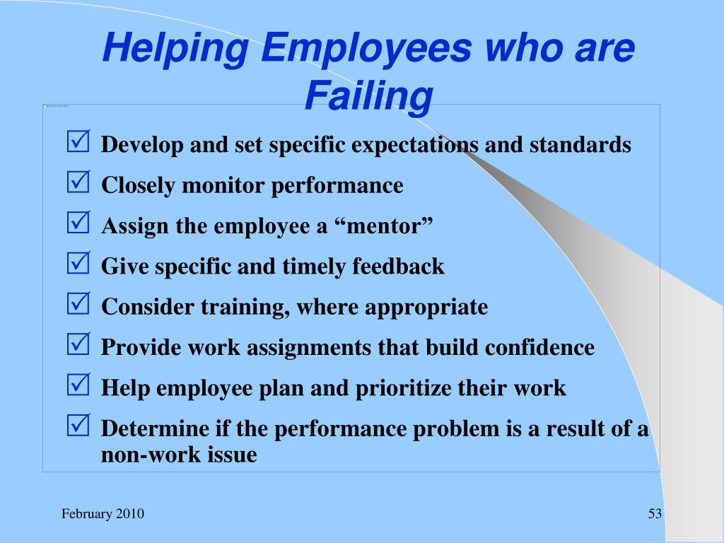 Helping Employees who are Failing