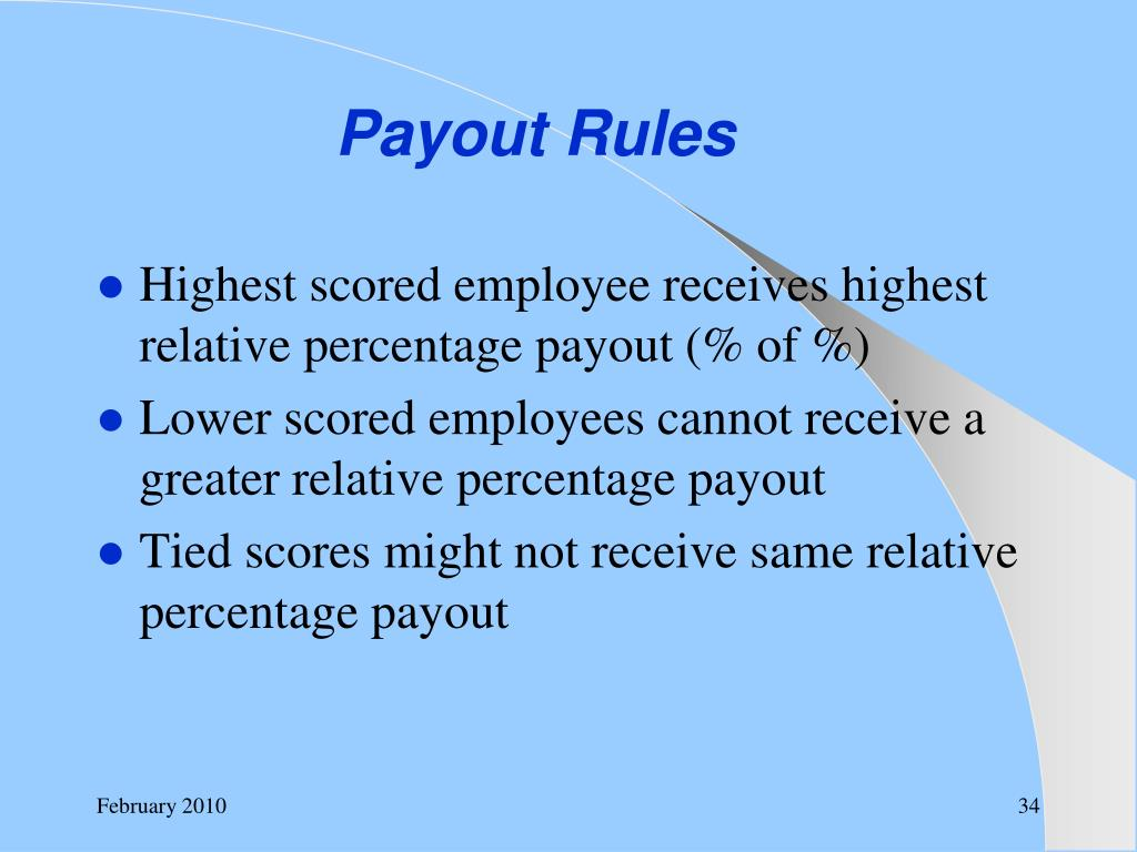 Payout Rules