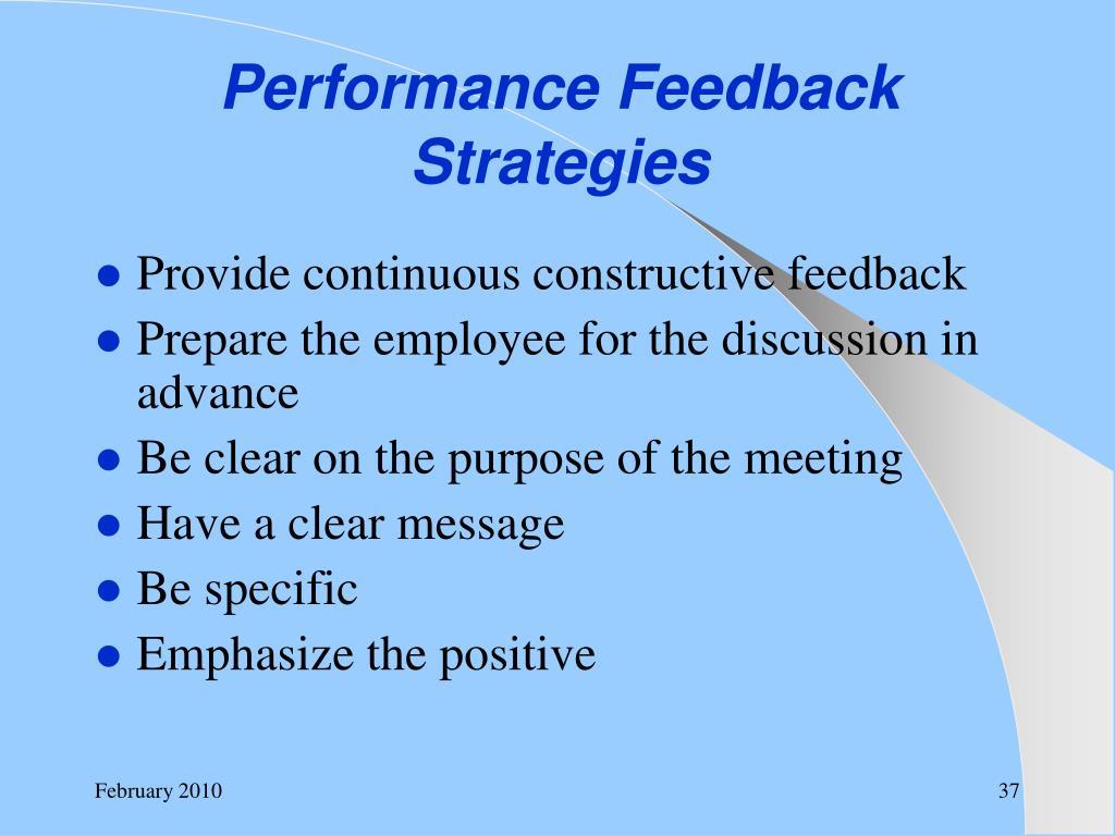 Performance Feedback Strategies