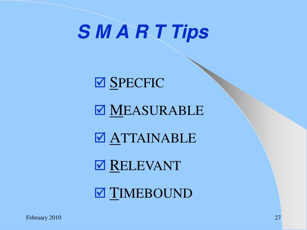 S M A R T Tips