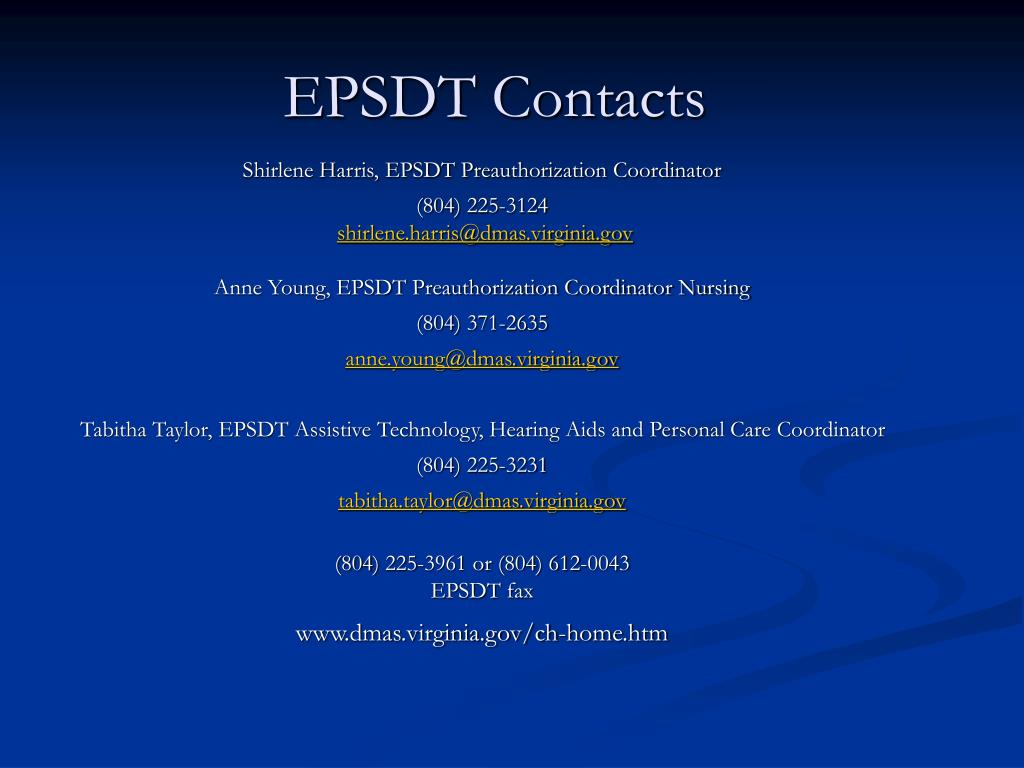 EPSDT Contacts