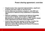 power sharing agreement overview