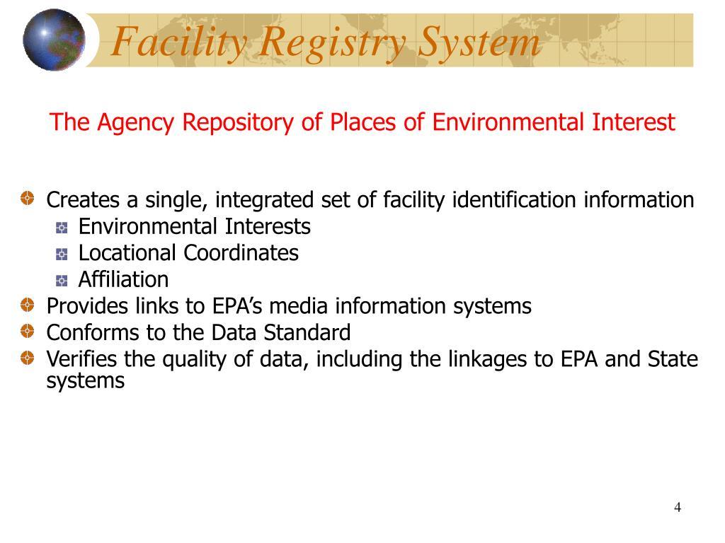 Facility Registry System