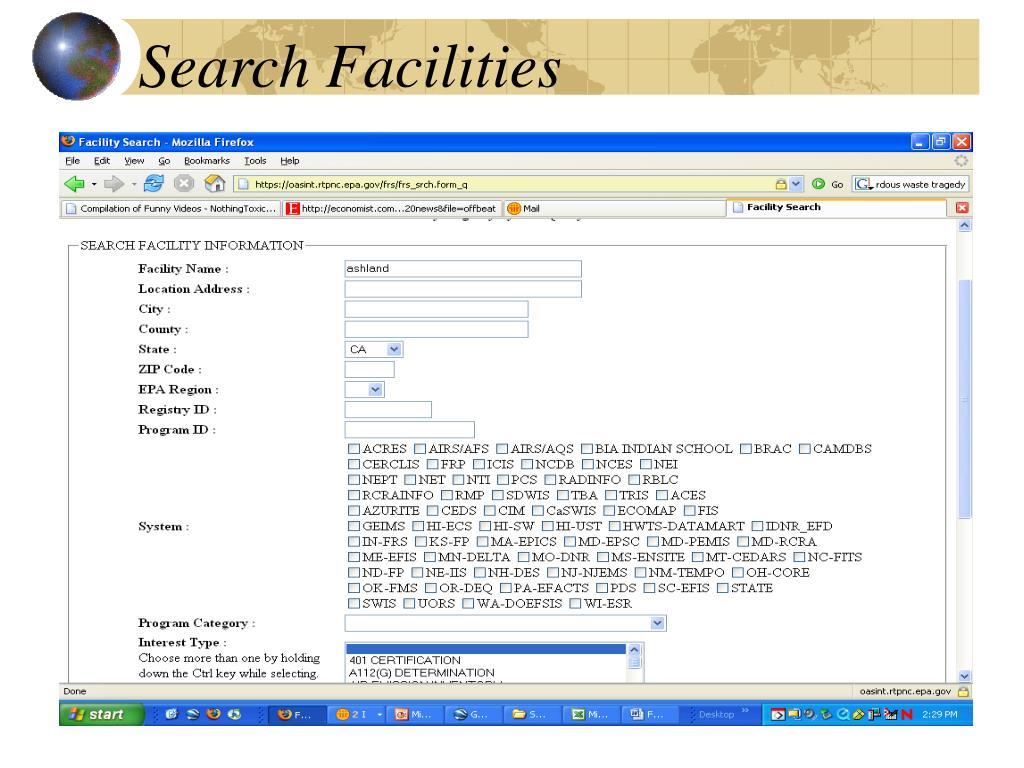 Search Facilities
