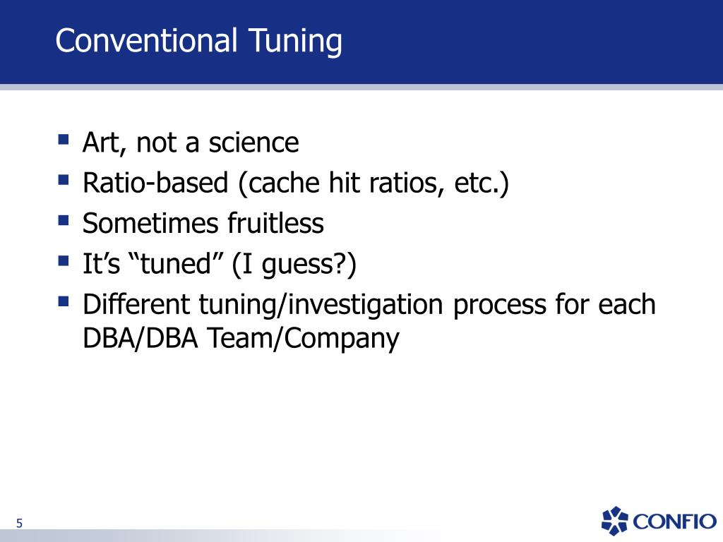Conventional Tuning