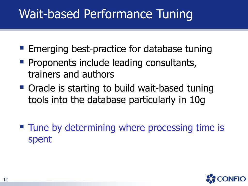 Wait-based Performance Tuning