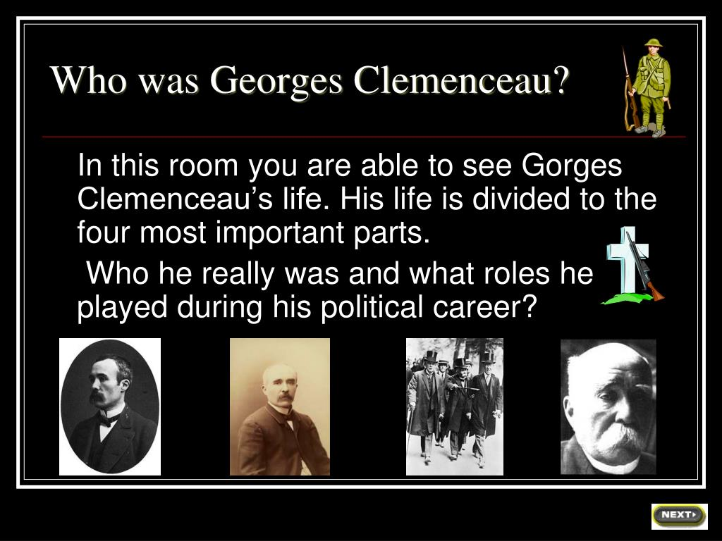 Who was Georges Clemenceau?
