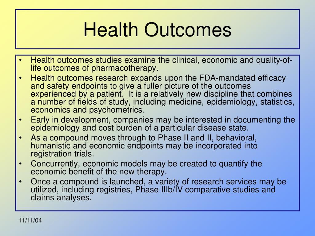 Health Outcomes