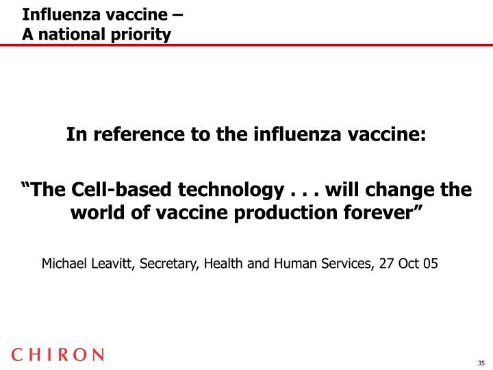 Influenza vaccine –