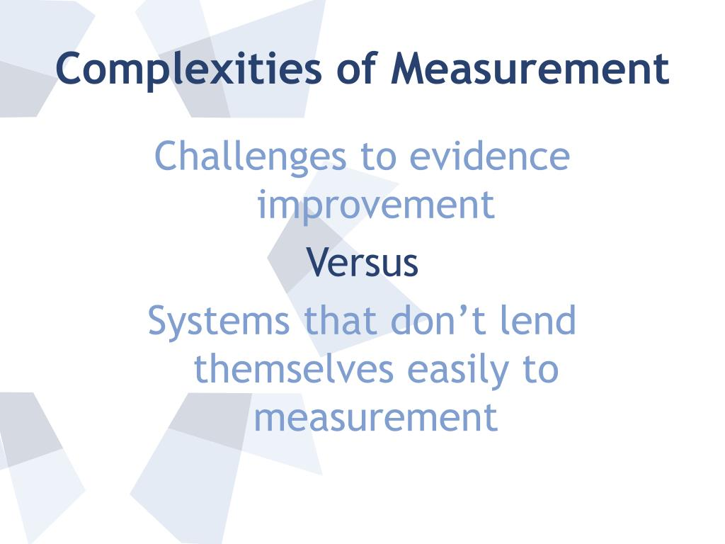 Complexities of Measurement