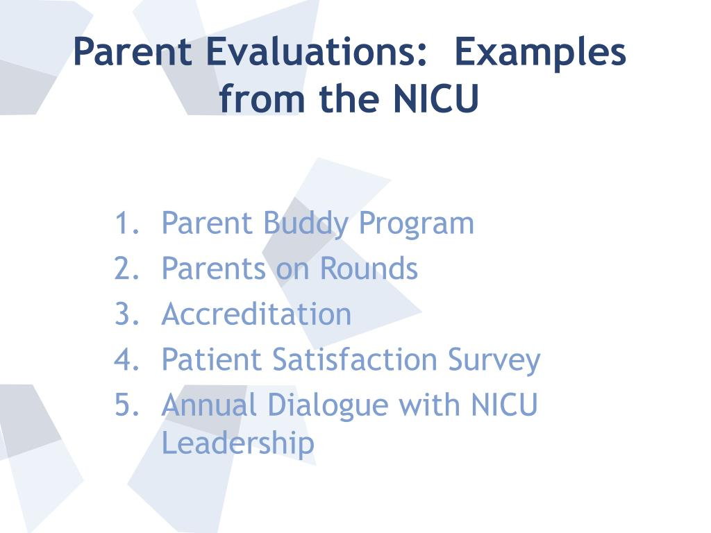Parent Evaluations