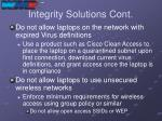 integrity solutions cont