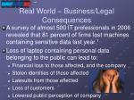 real world business legal consequences