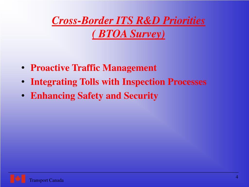 Cross-Border ITS R&D Priorities