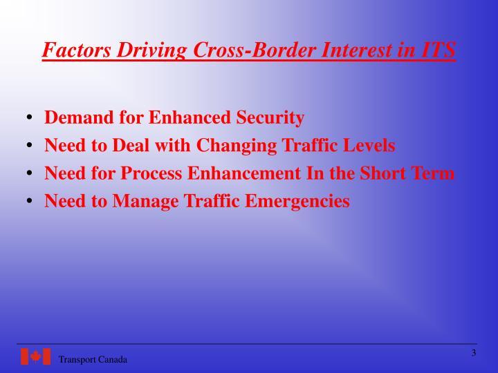 Factors driving cross border interest in its