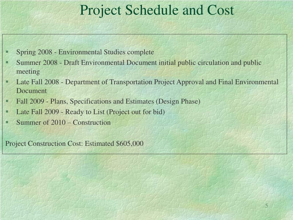 Spring 2008 - Environmental Studies complete