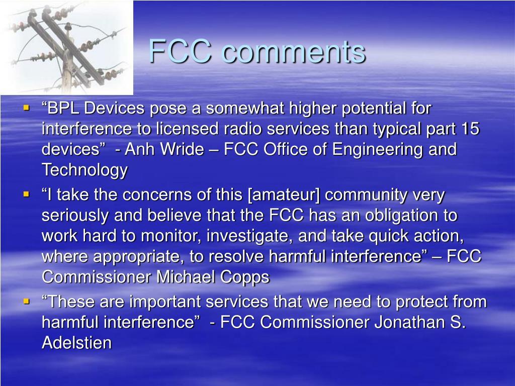 FCC comments