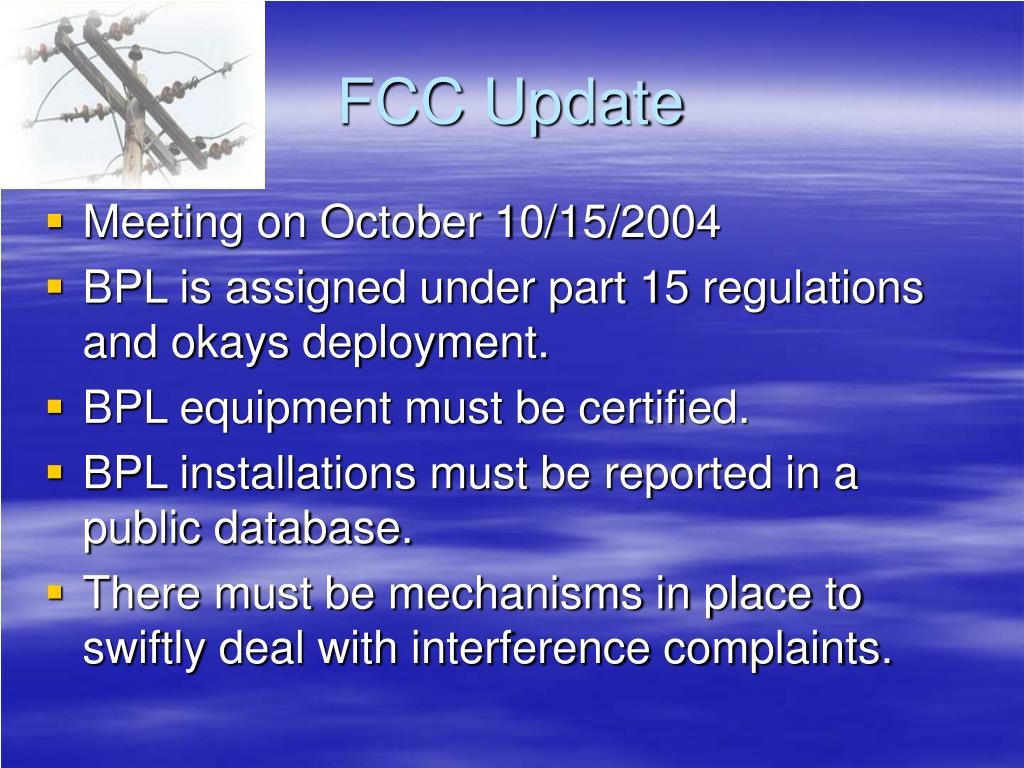 FCC Update