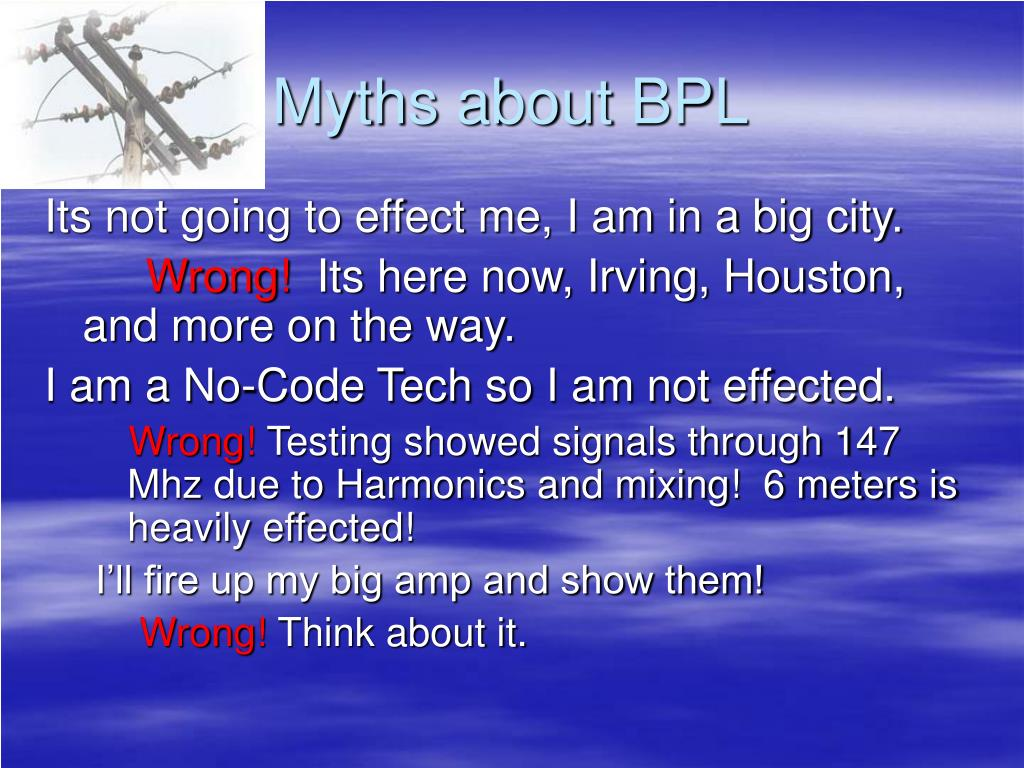 Myths about BPL