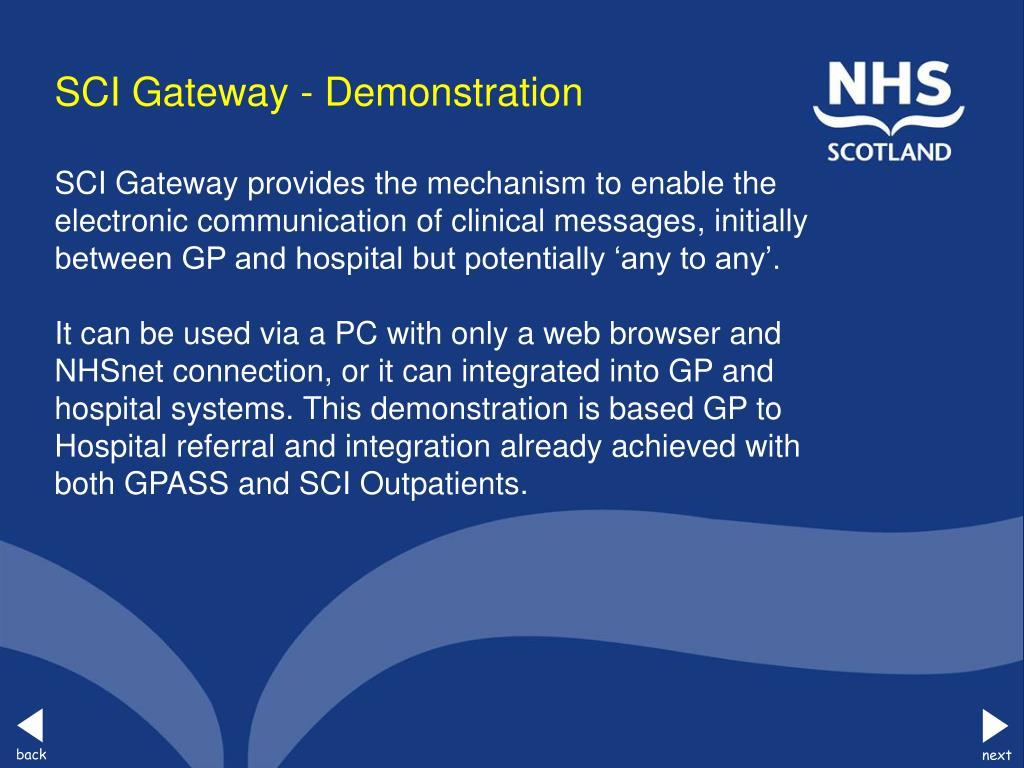 SCI Gateway - Demonstration