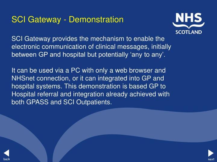 Sci gateway demonstration