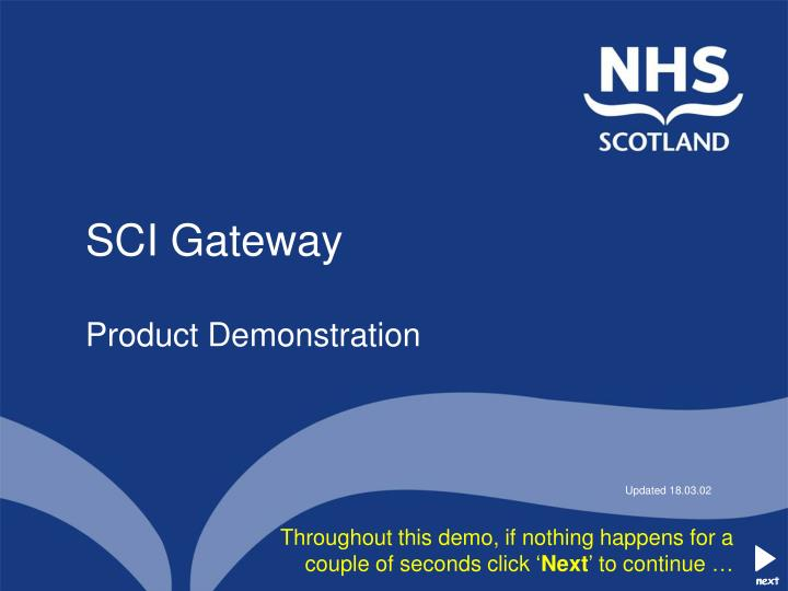 Sci gateway