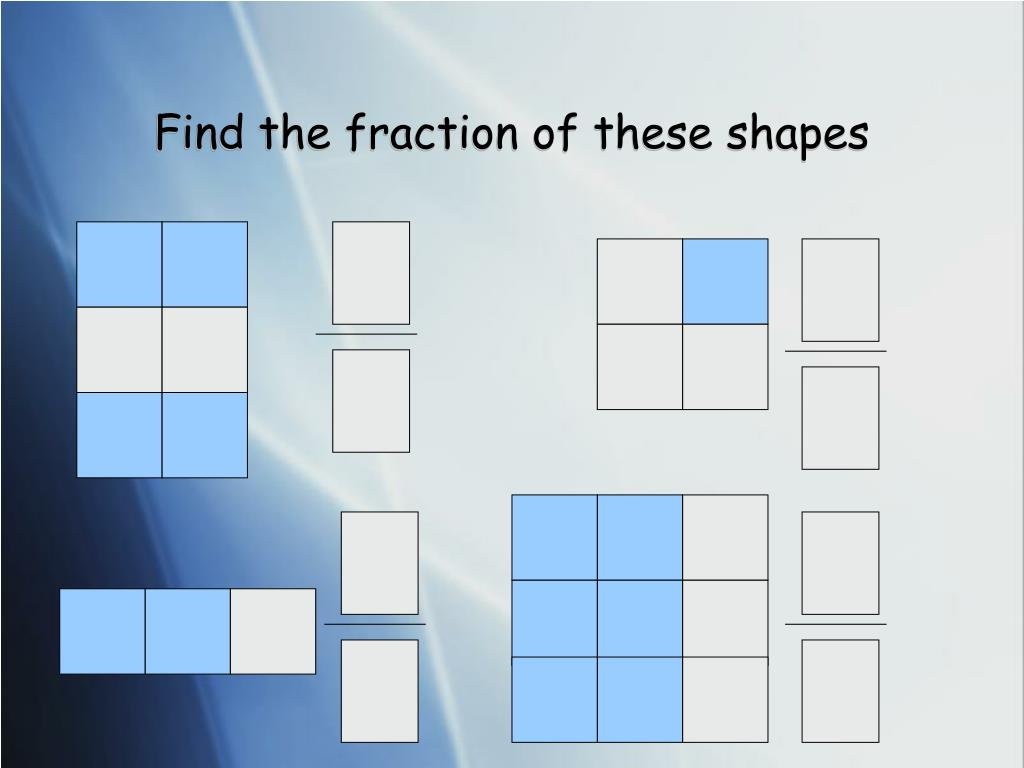 Find the fraction of these shapes