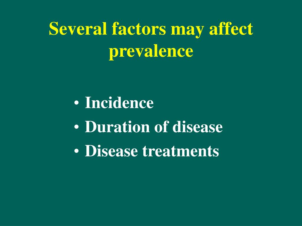 Several factors may affect