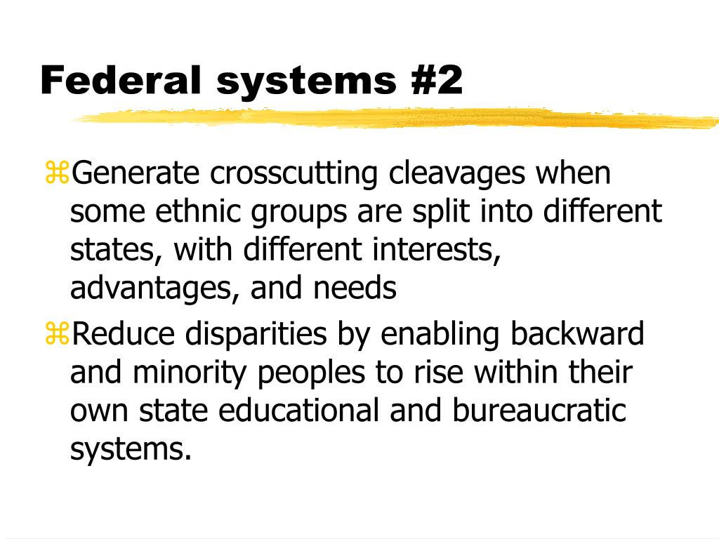 Federal systems #2