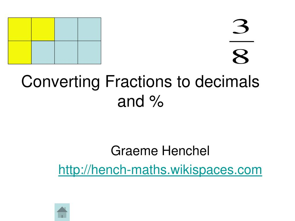 Converting Fractions to decimals and %