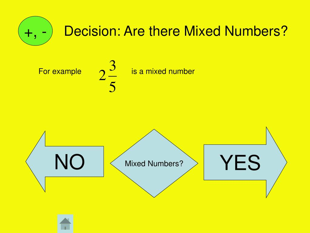 Decision: Are there Mixed Numbers?