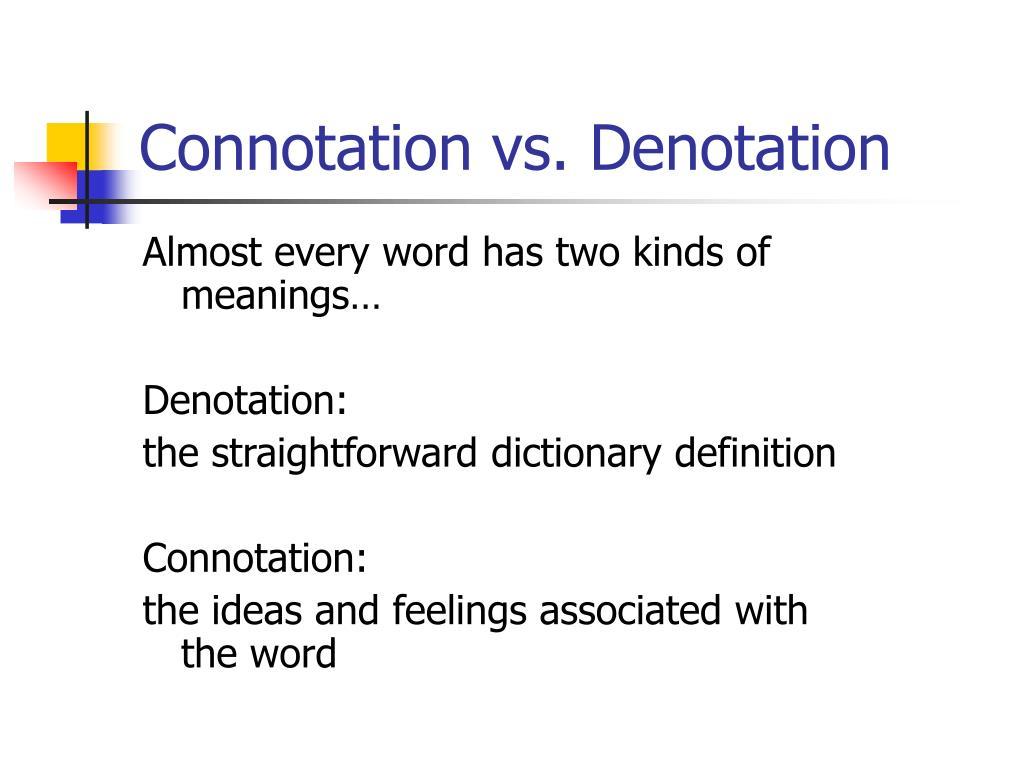 connotation vs denotation l.