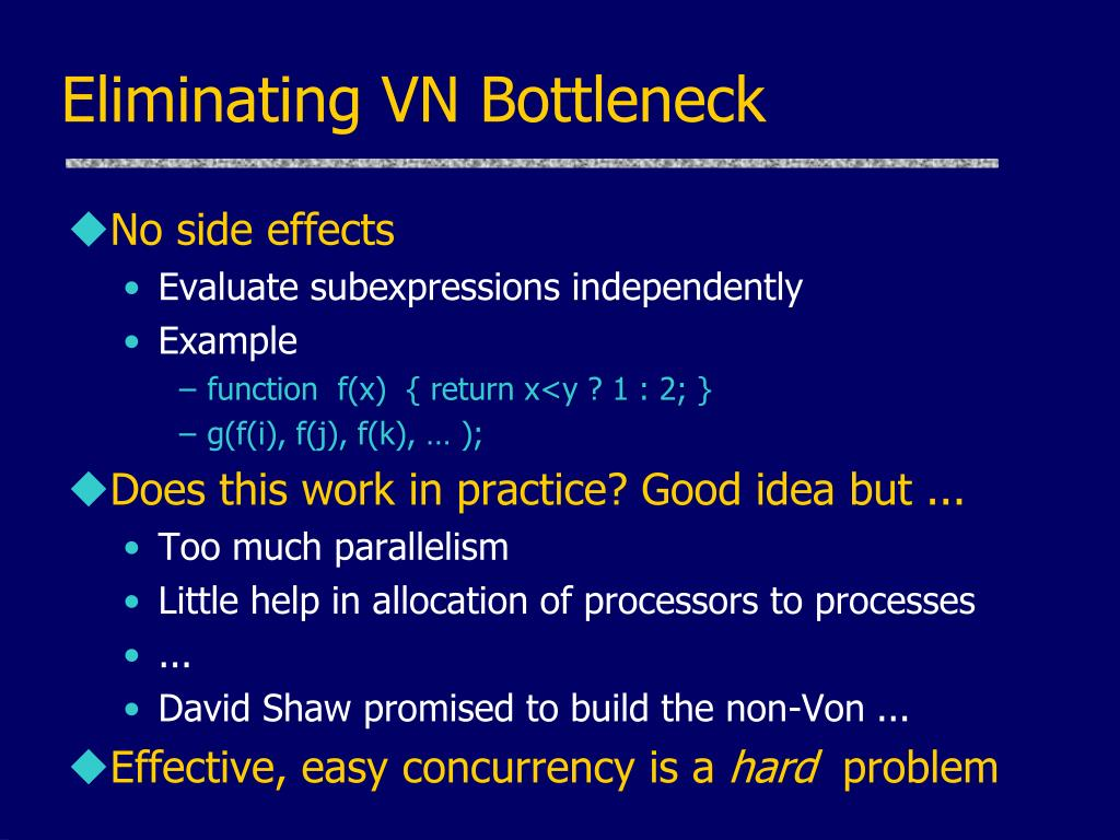 Eliminating VN Bottleneck