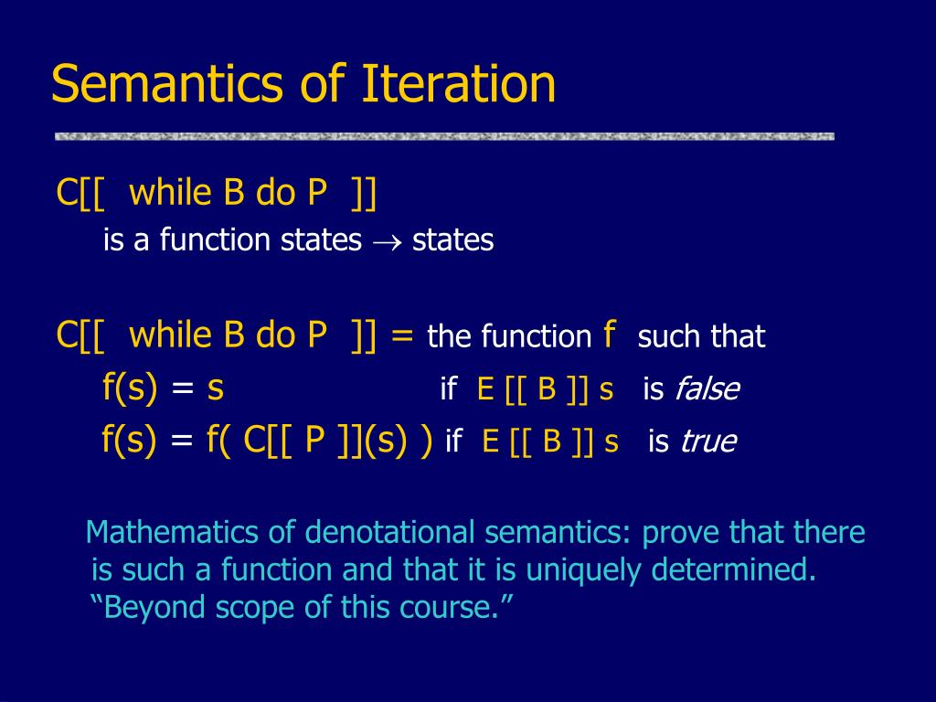 Semantics of Iteration