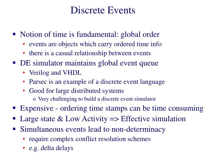Discrete Events