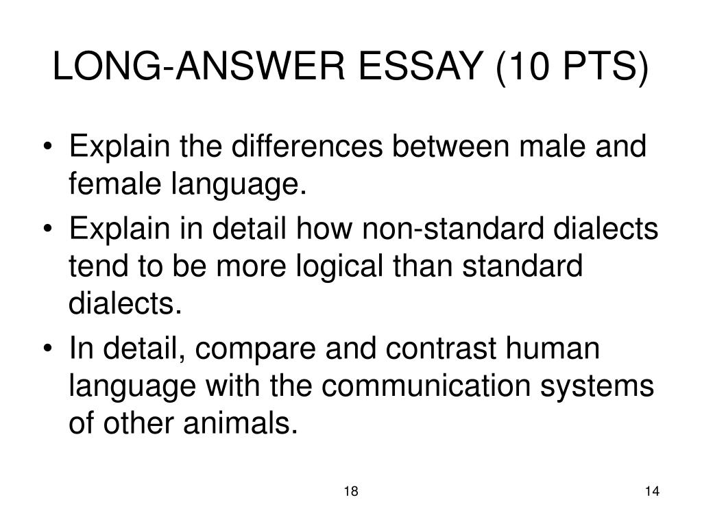 LONG-ANSWER ESSAY (10 PTS)
