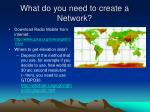 what do you need to create a network