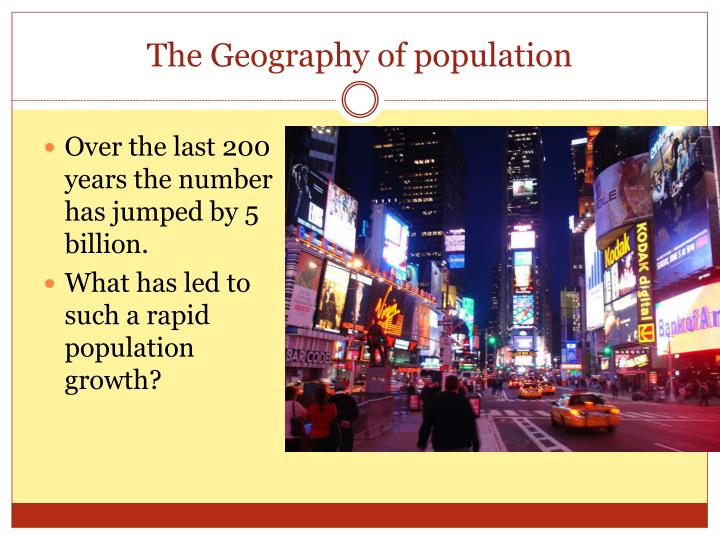 The geography of population2