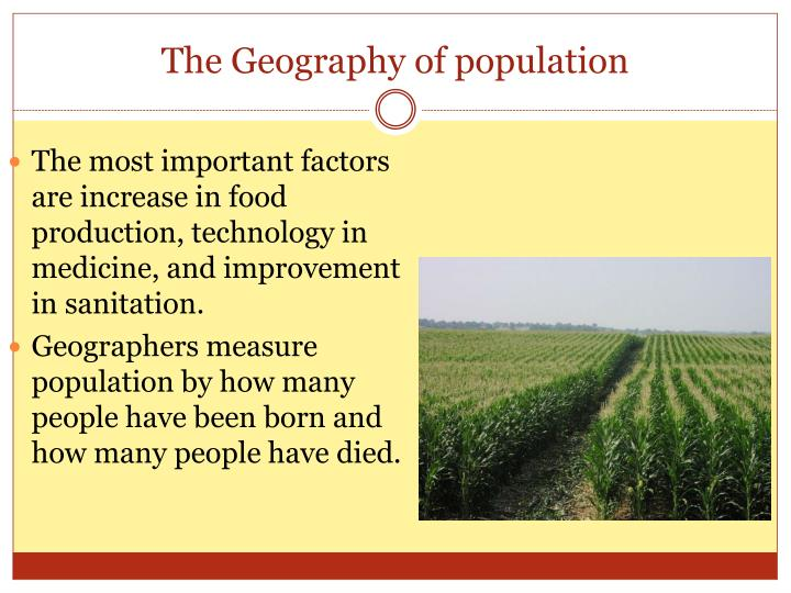 The geography of population3