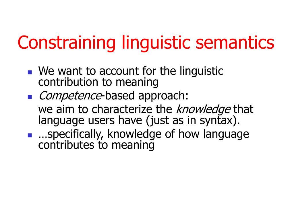 lingustic semantics