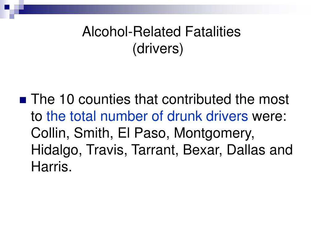 Alcohol-Related Fatalities