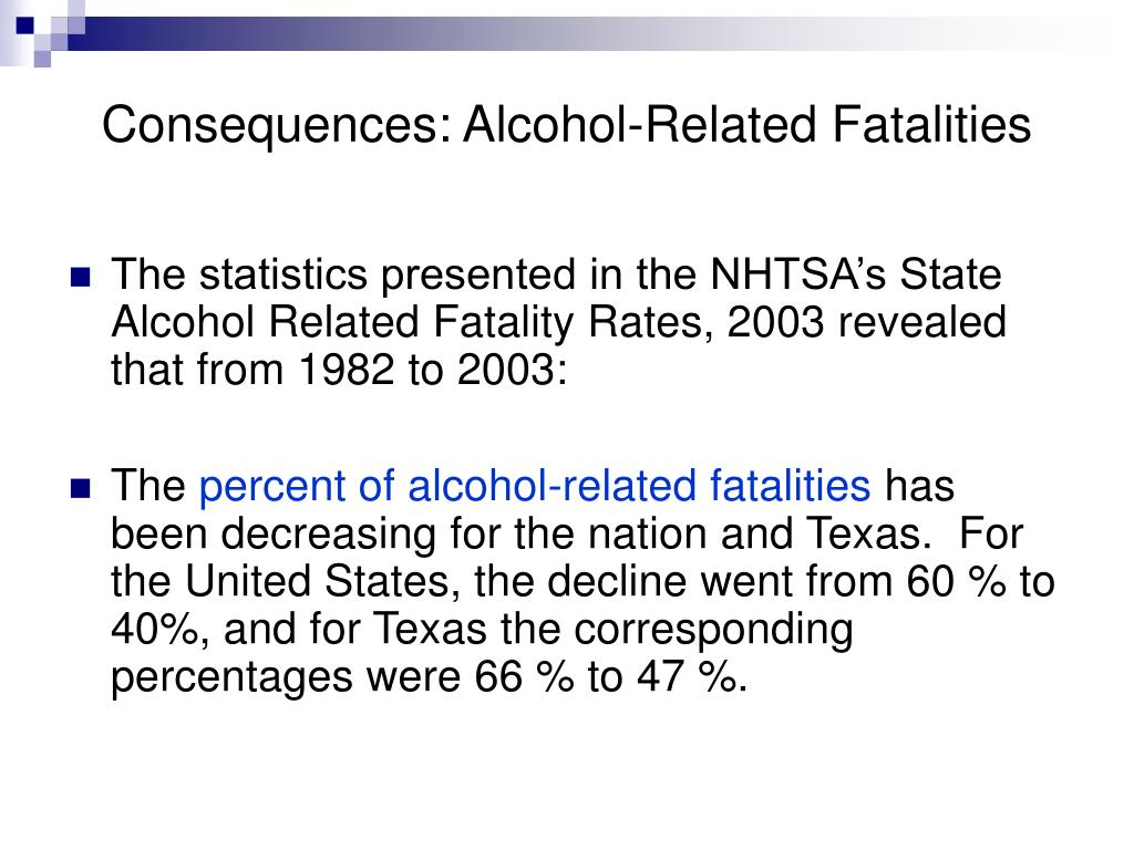 Consequences: Alcohol-Related Fatalities