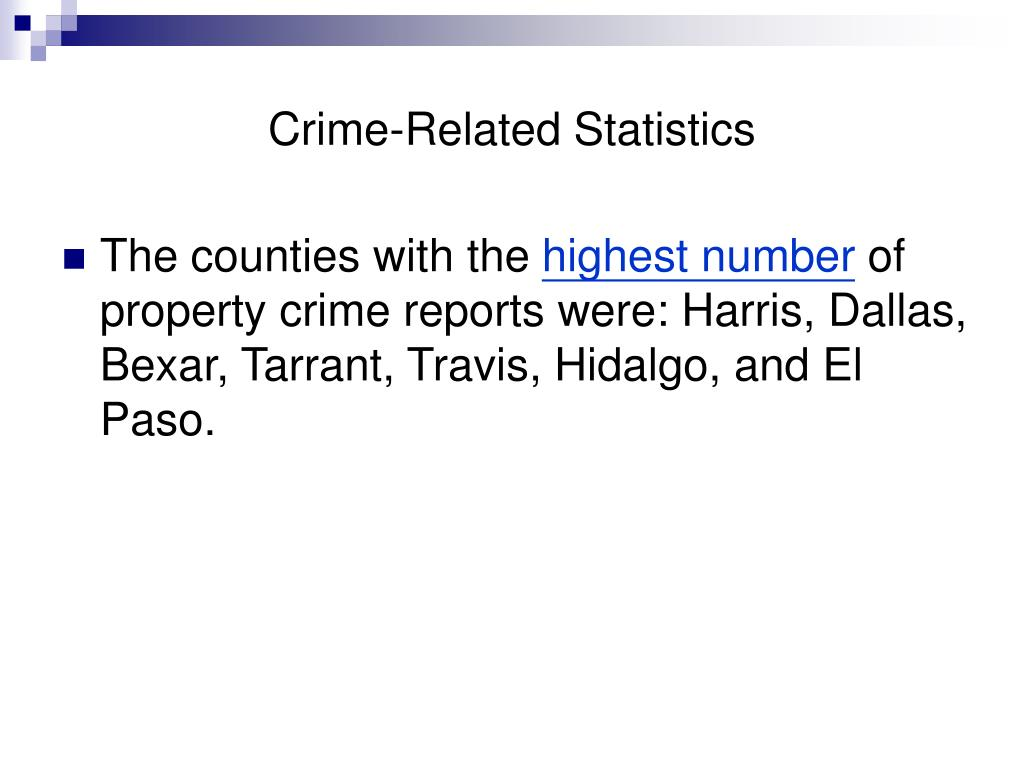 Crime-Related Statistics