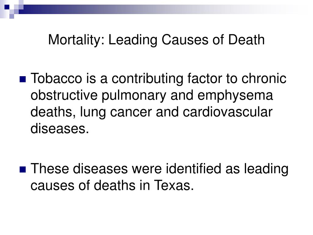 Mortality: Leading Causes of Death