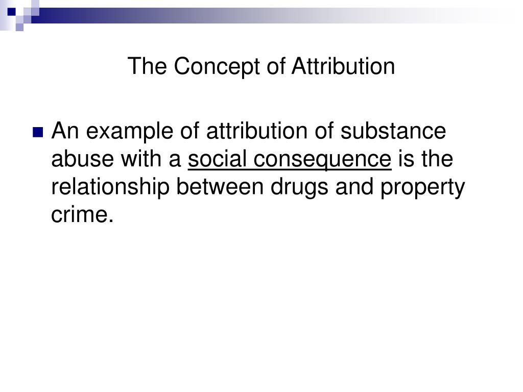 The Concept of Attribution