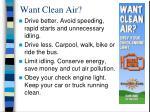 want clean air16