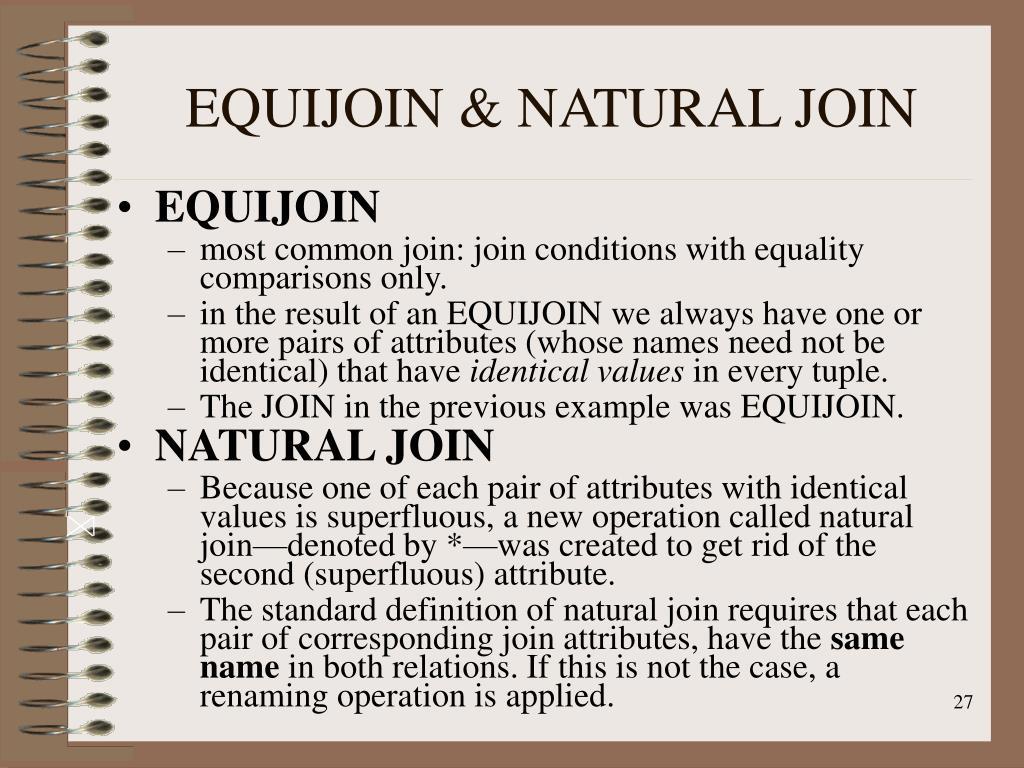EQUIJOIN & NATURAL JOIN