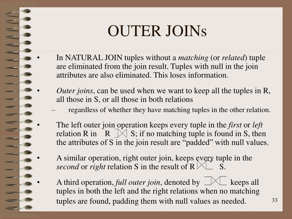 OUTER JOINs
