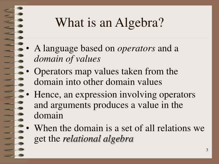 What is an algebra