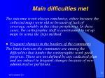 main difficulties met16